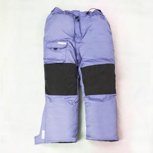 蓝色羽绒裤